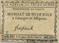 8 Sols FRANCE régionalisme et divers Cujoul 1792 Kc.12.031 TTB
