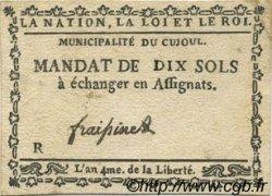 10 Sols FRANCE régionalisme et divers Cujoul 1792 Kc.12.032 TTB