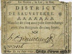 5 Sous FRANCE régionalisme et divers SAUVETERRE 1792 Kc.12.123 TB
