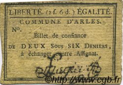 2 Sous 6 Deniers FRANCE régionalisme et divers Arles 1792 Kc.13.010 TTB