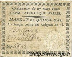 15 Sols FRANCE régionalisme et divers ARLES 1792 Kc.13.014 TTB
