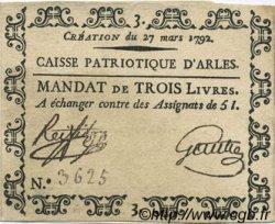 3 Livres FRANCE régionalisme et divers Arles 1792 Kc.13.022 SUP