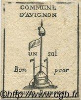 1 Sol FRANCE régionalisme et divers AVIGNON 1792 Kc.13.029 SUP