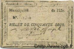 50 sous FRANCE régionalisme et divers Isle Sur La Sorgue 1792 Kc.13.062a TB