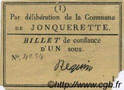 1 Sou FRANCE régionalisme et divers Jonquerette 1792 Kc.13.064 TTB