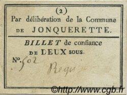 2 Sous FRANCE régionalisme et divers JONQUERETTE 1792 Kc.13.065 TTB