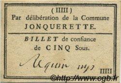 5 Sous FRANCE régionalisme et divers JONQUERETTE 1792 Kc.13.068c TTB