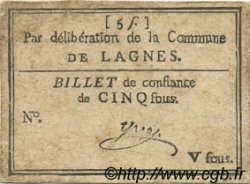 5 Sous FRANCE régionalisme et divers Lagnes 1792 Kc.13.071 TTB