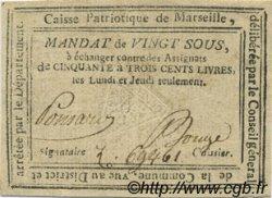 20 Sous FRANCE régionalisme et divers MARSEILLE 1792 Kc.13.087 TTB