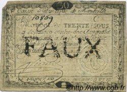30 Sous FRANCE régionalisme et divers Marseille 1792 Kc.13.088 TTB