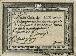 6 Livres FRANCE régionalisme et divers MARSEILLE 1792 Kc.13.091 TTB+