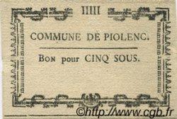 5 Sous FRANCE régionalisme et divers PIOLENC 1792 Kc.13.112 SUP