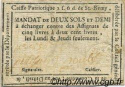 2 Sols 6 Deniers FRANCE régionalisme et divers Saint Remy De Provence 1792 Kc.13.130 (ou 135) TTB