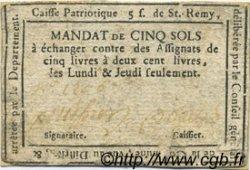 5 Sols FRANCE régionalisme et divers SAINT REMY DE PROVENCE 1792 Kc.13.136 TTB