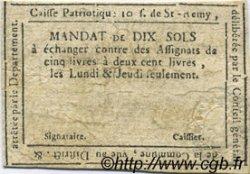 10 Sols FRANCE régionalisme et divers Saint Remy De Provence 1792 Kc.13.137 TTB