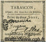 2 Sous  FRANCE regionalism and various Tarascon 1792 Kc.13.154a