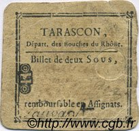 2 Sous FRANCE régionalisme et divers TARASCON 1792 Kc.13.154a TB+