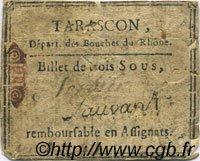 3 Sous FRANCE régionalisme et divers TARASCON 1792 Kc.13.155 TB