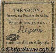 5 Sous FRANCE régionalisme et divers Tarascon 1792 Kc.13.155var TTB