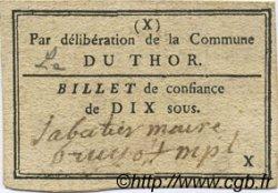 10 Sous FRANCE régionalisme et divers Le Thor 1792 Kc.13.163c TTB+