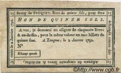 15 Sols FRANCE régionalisme et divers Touques 1792 Kc.14.124 SUP