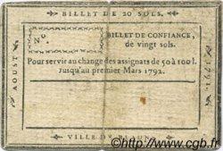 20 Sols FRANCE régionalisme et divers Beaune 1791 Kc.21.002 TTB