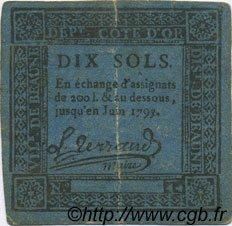 10 Sols FRANCE régionalisme et divers BEAUNE 1792 Kc.21.008 pr.TTB
