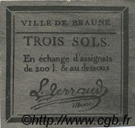 3 Sols FRANCE régionalisme et divers BEAUNE 1792 Kc.21.013x SUP