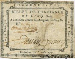 5 Sous FRANCE régionalisme et divers DIE 1792 Kc.26.067 TTB