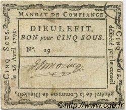 5 Sous FRANCE régionalisme et divers Dieulefit 1792 Kc.26.068c TTB