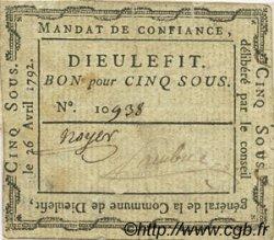 5 Sous FRANCE régionalisme et divers DIEULEFIT 1792 Kc.26.068d TTB