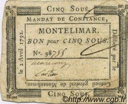 5 Sous FRANCE régionalisme et divers MONTELIMAR 1792 Kc.26.105 TTB