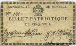 5 Sous FRANCE régionalisme et divers Monteux 1792 Kc.26.106 TTB