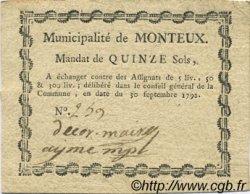 15 Sols FRANCE régionalisme et divers Monteux 1792 Kc.26.107a TTB