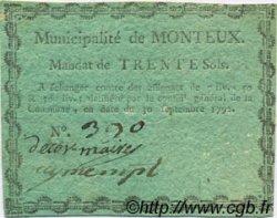 30 Sols FRANCE régionalisme et divers Monteux 1792 Kc.26.109 SUP