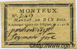 10 Sols FRANCE régionalisme et divers MONTEUX 1792 Kc.26.112 SUP