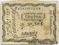 5 Sous FRANCE régionalisme et divers Pierrelatte 1792 Kc.26.135 TTB
