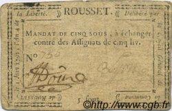 5 Sous FRANCE régionalisme et divers Rousset 1792 Kc.26.154 TB+