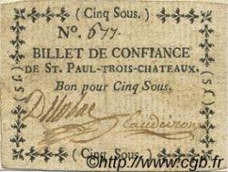 5 Sous FRANCE régionalisme et divers Saint Paul Trois Chateaux 1792 Kc.26.194a TTB