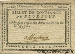 2 Sous FRANCE régionalisme et divers Valence 1792 Kc.26.222a TTB+