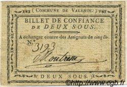 2 Sous FRANCE régionalisme et divers VALENCE 1792 Kc.26.222a TTB