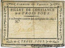 3 Sous FRANCE régionalisme et divers VALENCE 1792 Kc.26.223c TTB