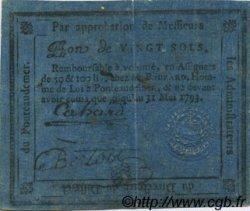 20 Sols FRANCE régionalisme et divers Pontaudemer 1792 Kc.27.062 TB+