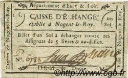 1 Sol FRANCE régionalisme et divers Nogent Le Roy 1792 Kc.28.093 TTB