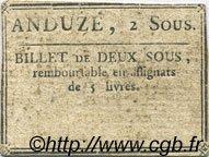 2 Sous FRANCE régionalisme et divers ANDUZE 1792 Kc.30.015 TTB