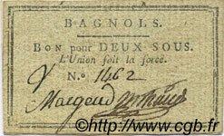 2 Sous FRANCE régionalisme et divers BAGNOLS 1792 Kc.30.021 SUP