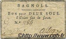 2 Sous FRANCE régionalisme et divers Bagnols 1792 Kc.30.021 TTB+