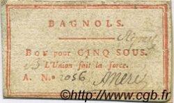 5 Sous FRANCE régionalisme et divers BAGNOLS 1792 Kc.30.022 TTB+