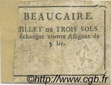 3 Sols FRANCE régionalisme et divers BEAUCAIRE 1792 Kc.30.030 TB