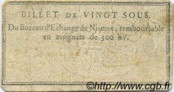 20 Sous FRANCE régionalisme et divers Nimes 1792 Kc.30.063 TTB